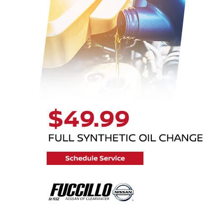 Buy a Full Synthetic Oil Change for ONLY $49.99 plus tax! Save $10.00!