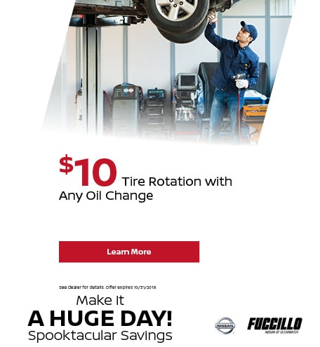 $10 Tire Rotation with Any Oil Change