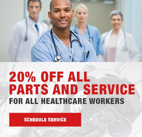 20% OFF All Parts and Service For All Healthcare Workers