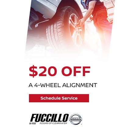 Receive $20.00 OFF a 4-Wheel Alignment!