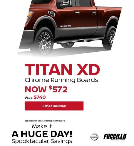 Titan XD Chrome Running Boards
