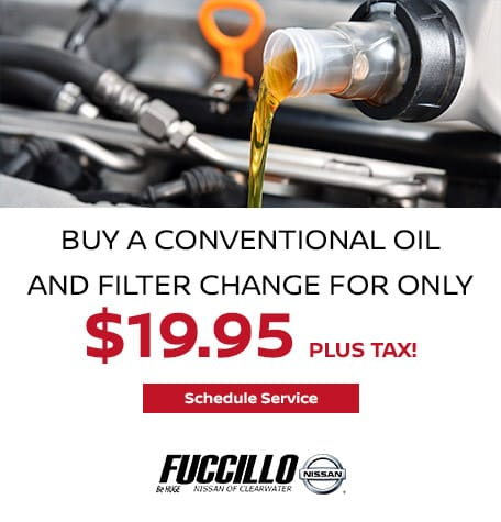 Buy a Conventional Oil and Filter Change for only $19.95 plus tax!