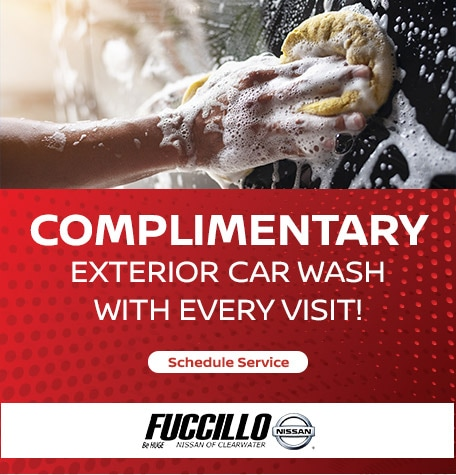 Complimentary Exterior Car Wash With Every Visit!
