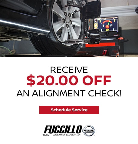 Receive $20.00 OFF an Alignment Check!