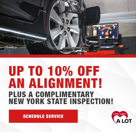 Up to 10% off an Alignment! Plus a Complimentary New York State Inspection!