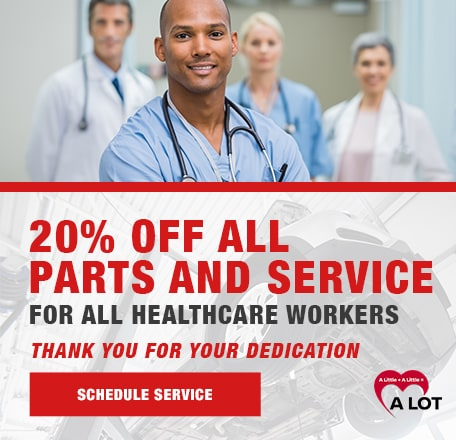 20% off all Parts and Service for Healthcare Workers!