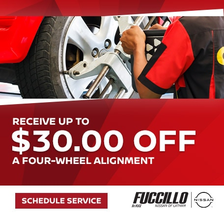 Receive up to $30.00 off a Four-Wheel Alignment