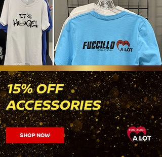 Receive 15% off the purchase any Accessories or Apparel in stock!