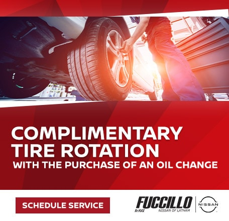 Complimentary Tire Rotation with the purchase of an oil change