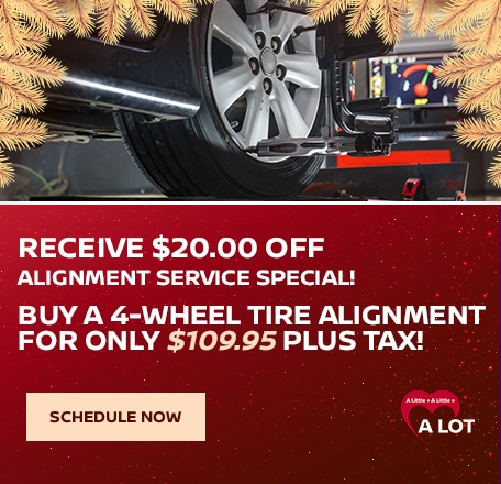 Receive $20.00 OFF Alignment Service Special!