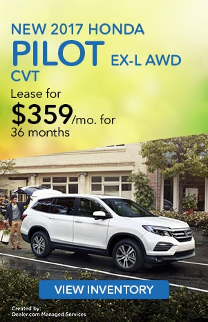 2017 Pilot 6 Speed Automatic AWD EX-L Featured Special Lease