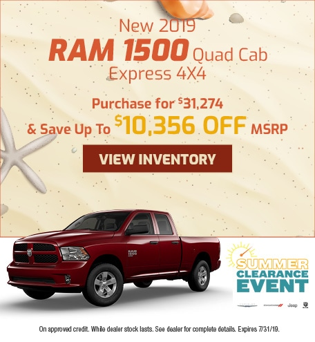 July - 2019 Ram 1500