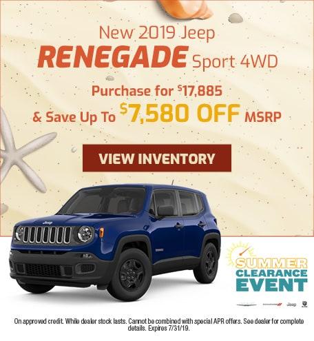 July - 2019 Jeep Renegade Sport