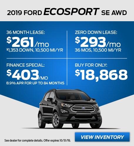 October - 2019 EcoSport SE AWD