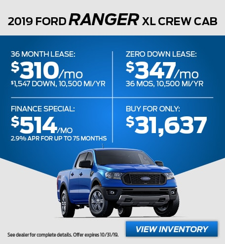 October - 2019 Range XL Crew Cab