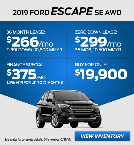 October - 2019 Escape SE AWD