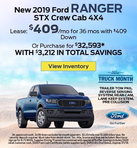 New 2019 Ford Ranger STX Crew Cab