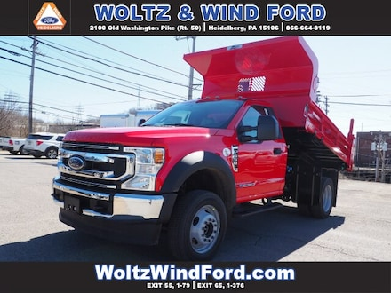 Featured New 2021 Ford F-550 Dump Truck Regular Cab 1FDUF5HT5MEC43044 for Sale in Heidelberg, PA
