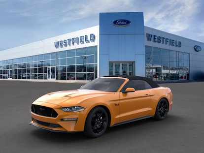 New 2019 Orange Ford Mustang For Sale At Westfield Ford Inc Vin 1fatp8ff3k5122592