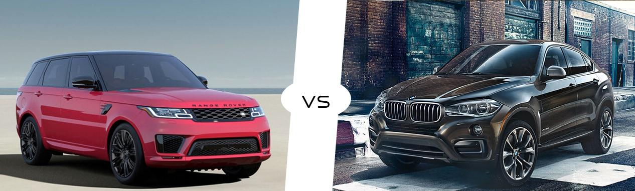 2018 Land Rover Range Rover Sport Vs 2018 Bmw X6