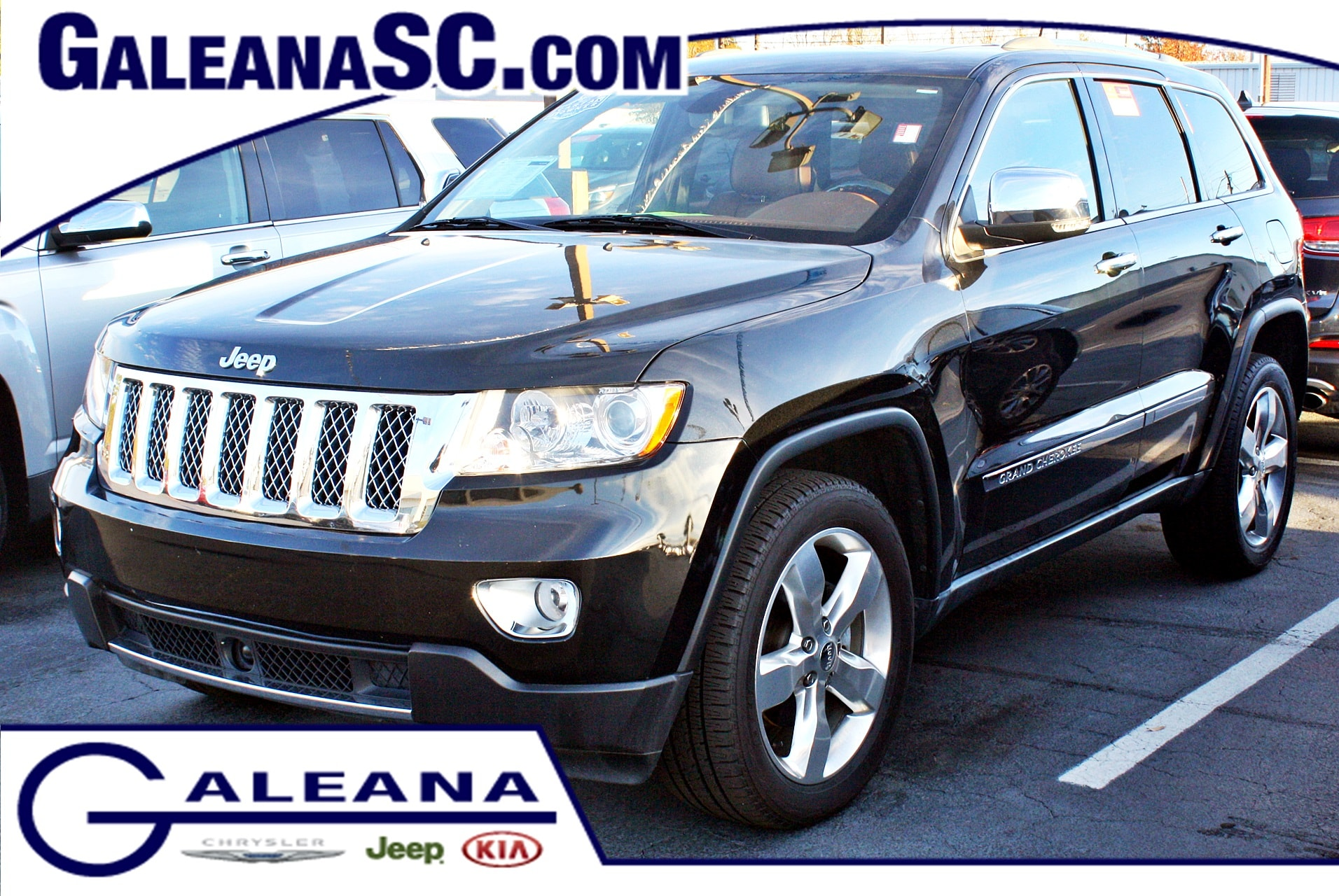 certified used 2012 jeep grand cherokee overland summit in columbia sc galeana kia vin. Black Bedroom Furniture Sets. Home Design Ideas