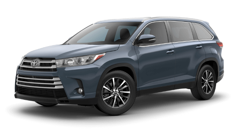 2019 Toyota Highlander XLE - Shoreline Blue