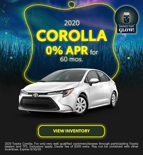 2020 Corolla - September 2020