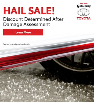 Hail Sale! Discount Determined After Damage Assessment