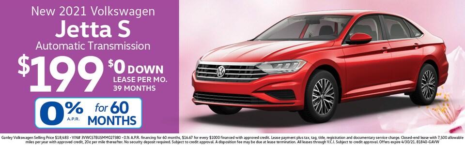 2021 Volkswagen Jetta S LEASE $199 mo./$0 Down