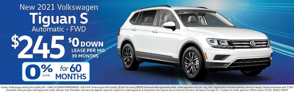 VW Tiguan Lease for $245 mo./$0 down