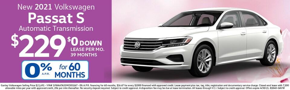2021 Volkswagen Passat S LEASE $229 mo./$0 Down