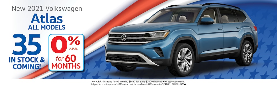 2021 Volkswagen Atlas 0% APR for 60 Months