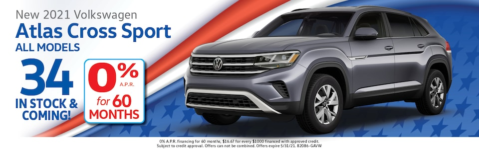 2021 Volkswagen Atlas Cross Sport 0% APR for 60 Months