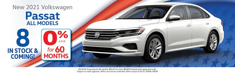2021 Volkswagen Passat 0% APR for 60 Months