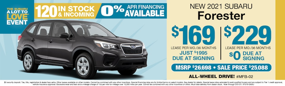 2021 Subaru Forester Leasing From $170 a month
