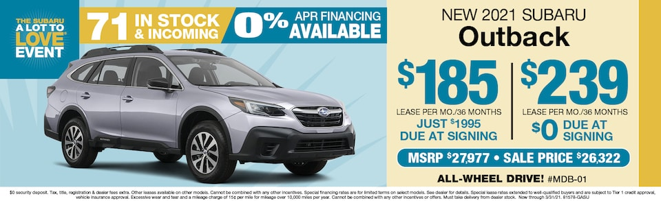 2021 Subaru Outback Leasing From $175 a month