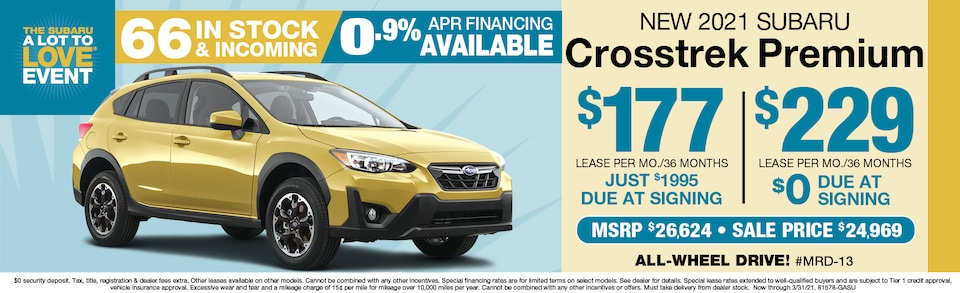 2021 Subaru Crosstrek Leasing From $165 a month
