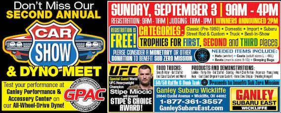 Ganley Subaru East >> 2nd Annual Ganley Subaru East Car Show Ganley Subaru East