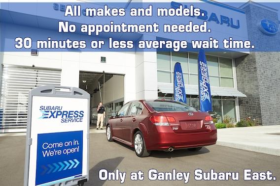 Ganley Subaru East >> The All New Express Service Ganley Subaru East
