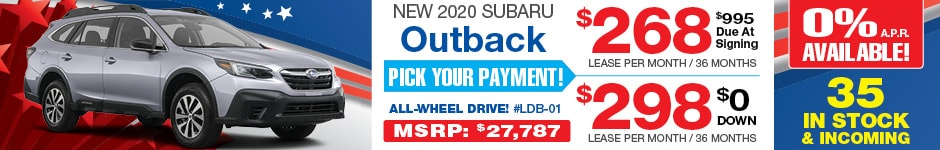 2020 Subaru Outback JULY