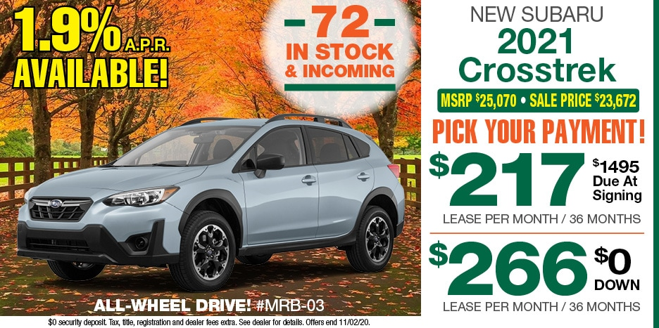 2021 Crosstrek October