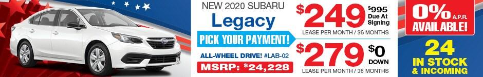 2020 Subaru Legacy JULY