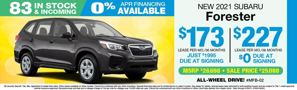 2021 Subaru Forester LEASE $227 mo./$0 Down