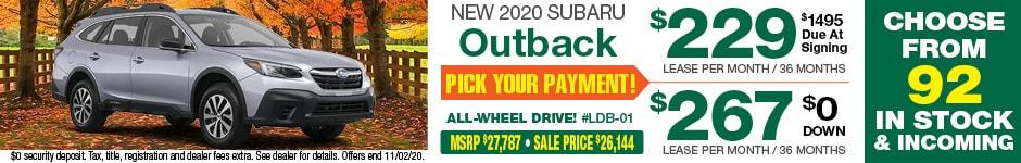 2020 Outback OCTOBER