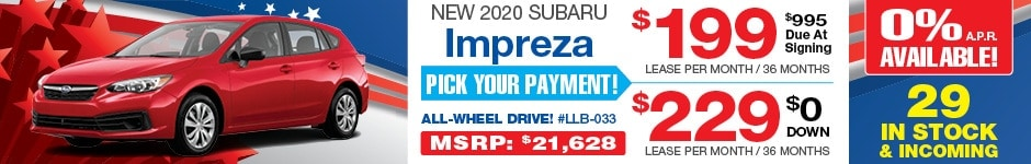 2020 Subaru Impreza 5 Dr. JULY