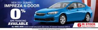 2021 Subaru Impreza 0% APR Available