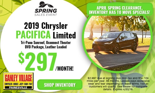 April Chrysler Pacifica Offer