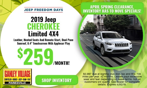 April Jeep Cherokee Offer