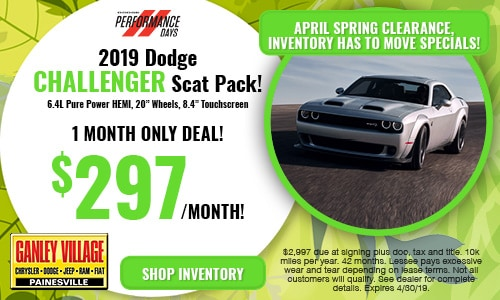 April Dodge Challenger Offer