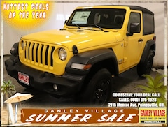 New 2019 Jeep Wrangler SPORT 4X4 Sport Utility for sale in Painesville